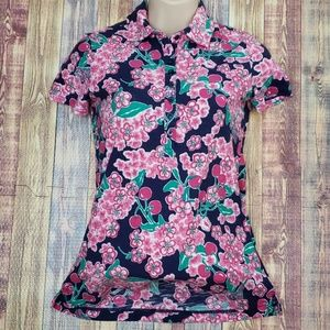 Lily Pulitzer floral top size xs